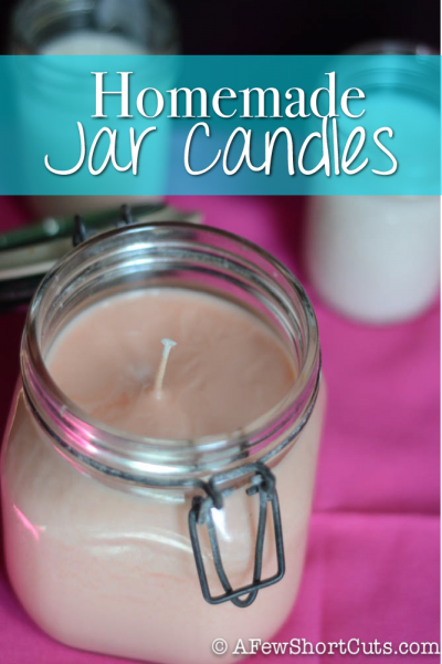 how to make candles in a jar