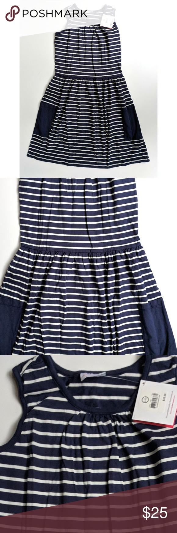 3f1cdf304c8 Hanna Andersson 160 So Breezy Sundress Dress Navy Hanna Andersson Girls So  Breezy Sundress Dress Navy