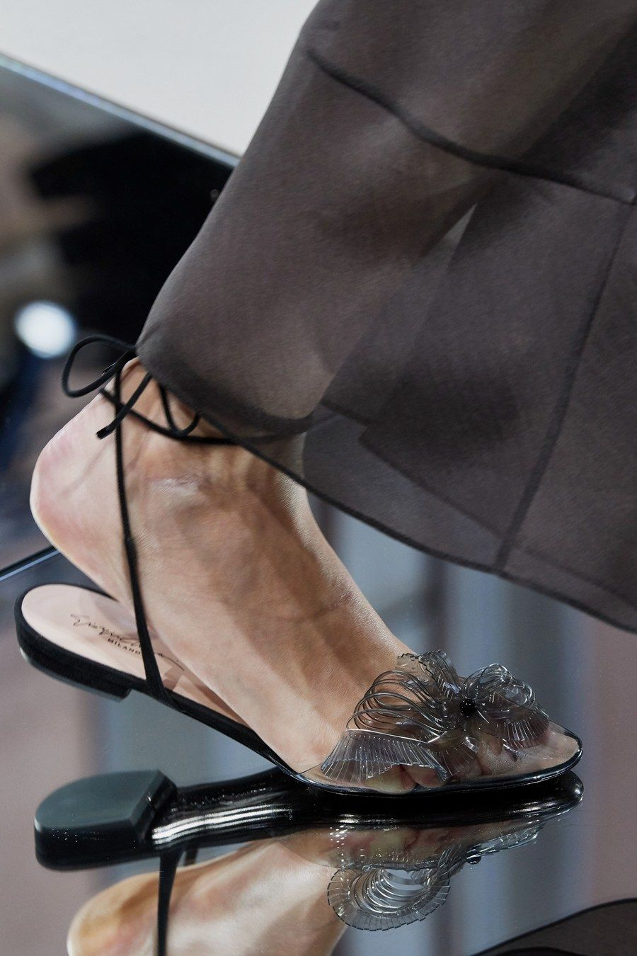 Giorgio Armani Spring 2020 Ready To Wear Fashion Show Jelly Shoes Outfit Trending Shoes Fashion Shoes