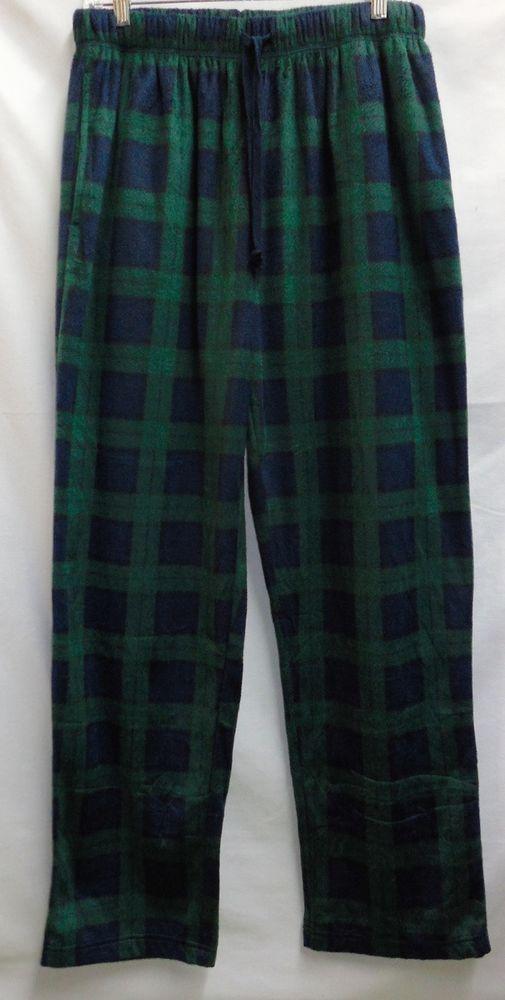 NAUTICA Men/'s Fleece Pajama Lounge Pants Medium 32-34 Navy Blue Red Green New