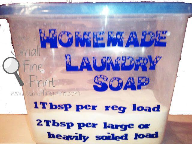 DIY Powder Laundry Detergent Recipe - SmallFinePrint