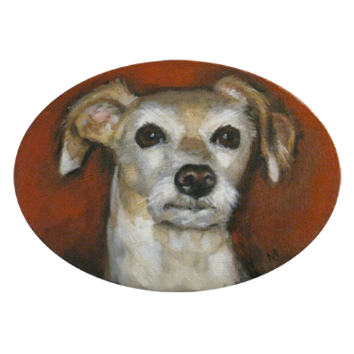 Oil Of Small Dog Melanie Macarthur Love The Expression Artist