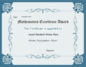Mathematics excellence award certificate template for ms word mathematics excellence award certificate template for ms word download at httpcertificatesinn yelopaper Gallery