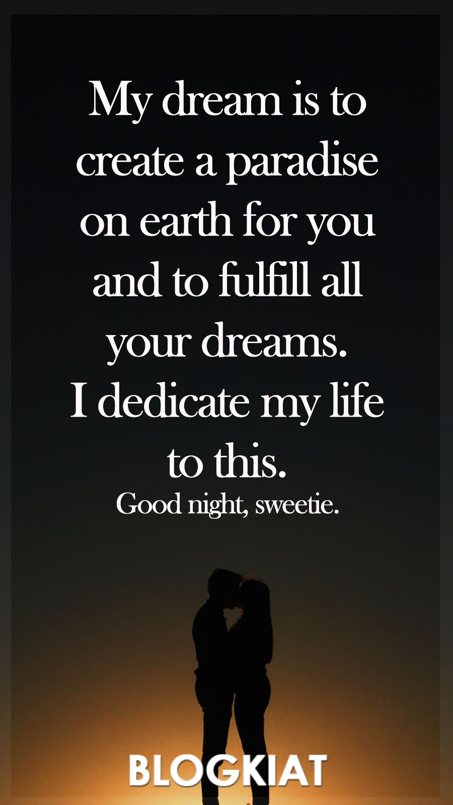 50+ Good Night Love Quotes, Sayings, Messages For Him/Her ...