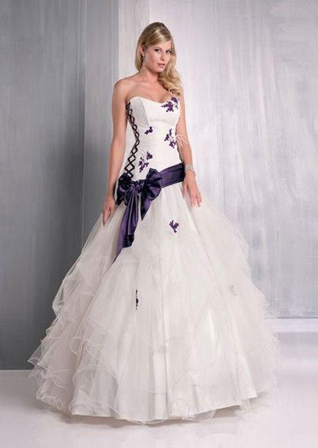 Robe de mariee violette | Robe de mariée