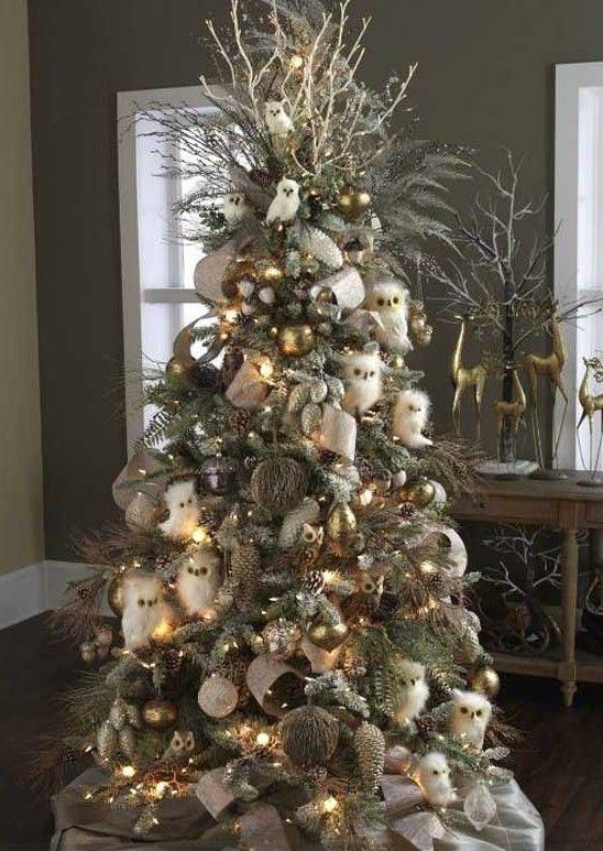 Kerstboom Met Uiltjes Projecten Om Te Proberen Kerstboom