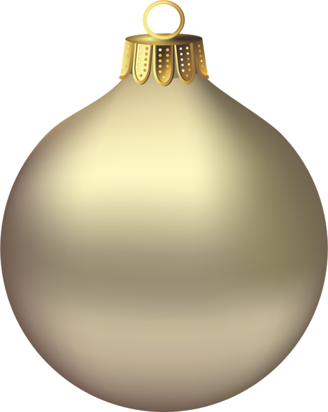 Transparent Christmas Gold Ornament Clipart 3d Christmas Png