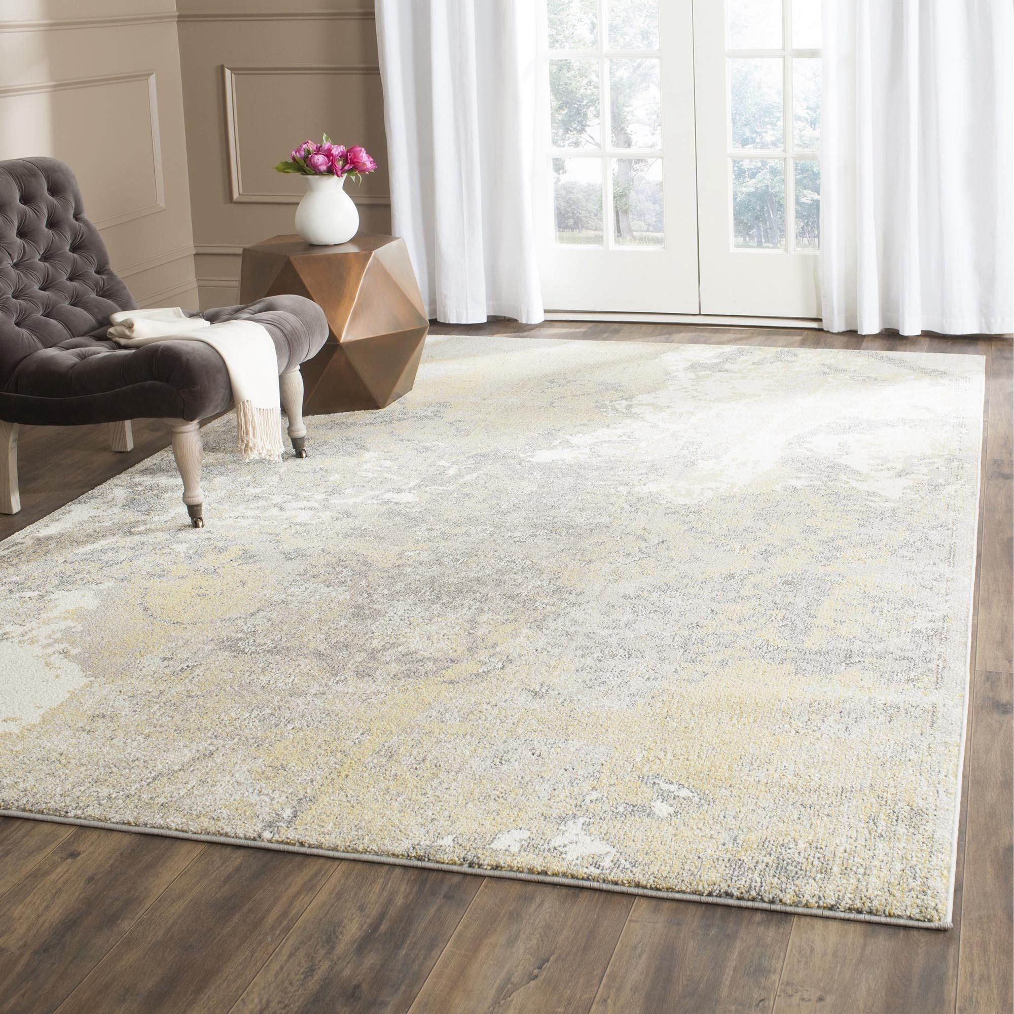 Safavieh Monaco Apollo Distressed Boho Rug Area Rugs Rugs Grey Rugs