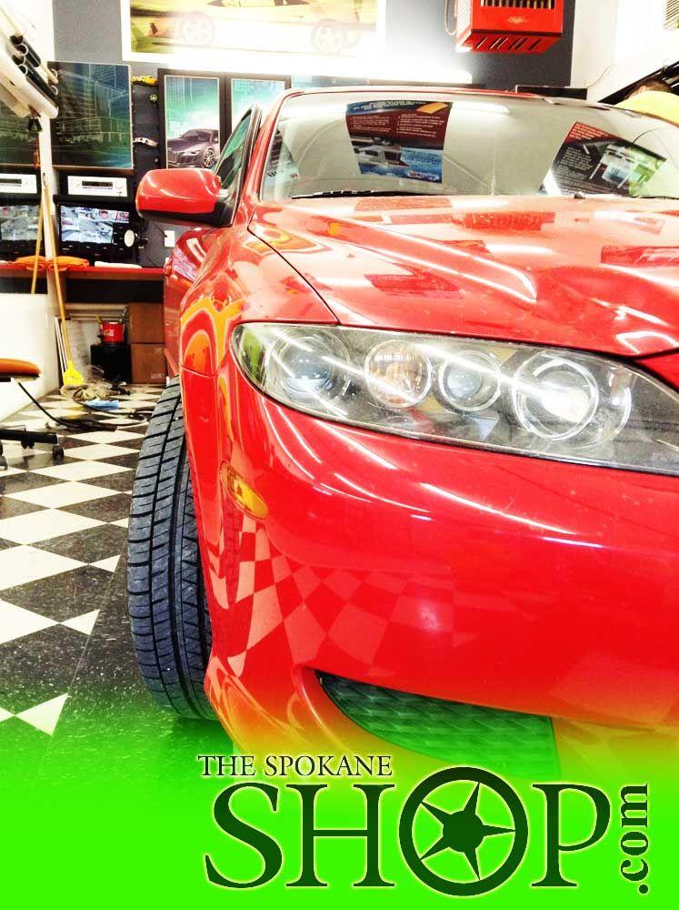 Mazda 6 Red The Spokane Shop Window Tinting Tint Clear Bra