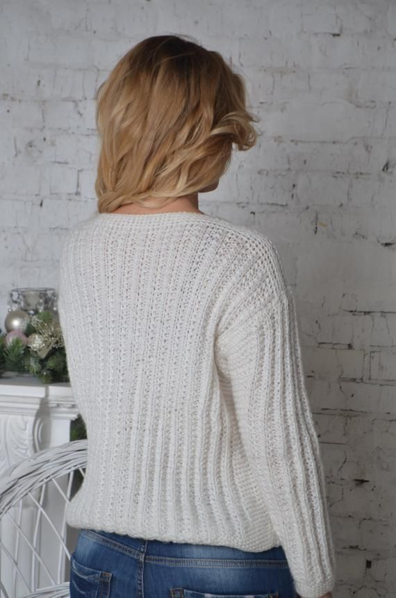 Handmade Sweater, Chunky Knit Jumper, Baggy Jumper, Chunky Knit Sweater, Fall Sweater, Knitted Jumper, Knitted Sweater, White Knit Sweater