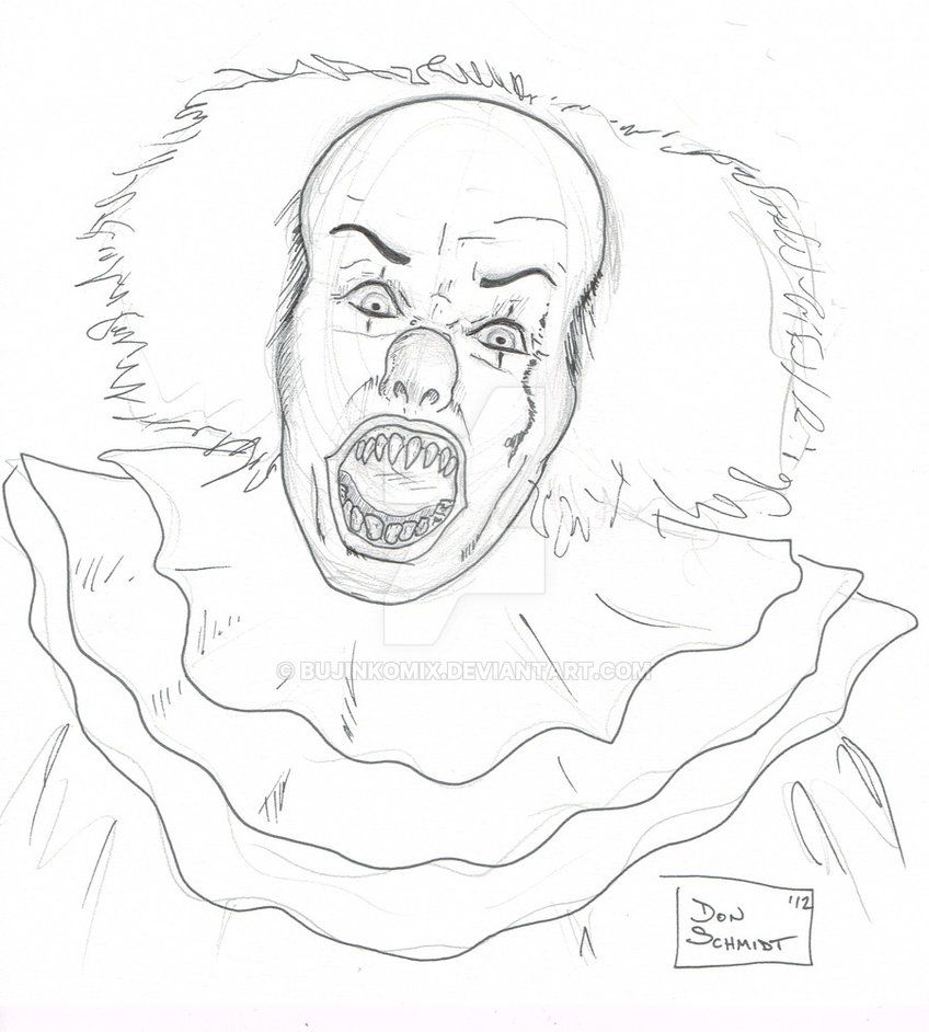DSC - Pennywise the Clown - ink over pencil by bujinkomix ...