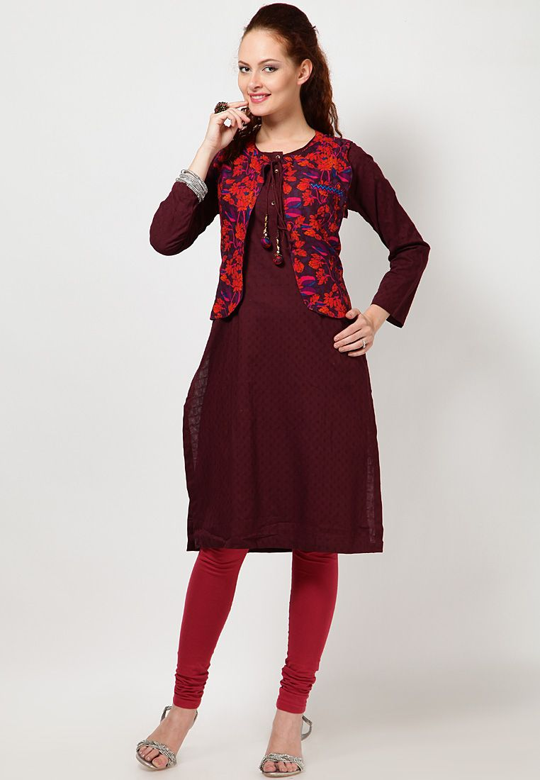 Kurtas With Jacket For Ladies Google Search Jackets Kurti