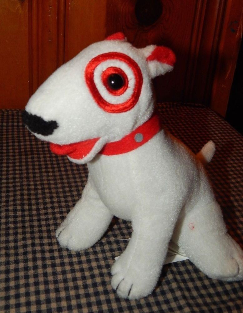 TARGET RED WHITE BULLS EYE BULLSEYE MASCOT COLLECTIBLE DOG PLUSH 7 STUFFED Target
