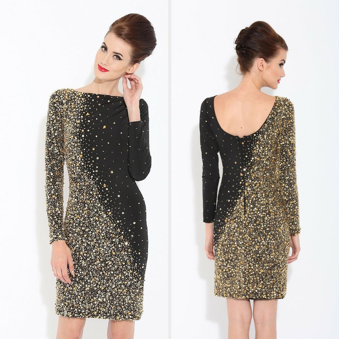 Long Sleeves Jeweled Dresses