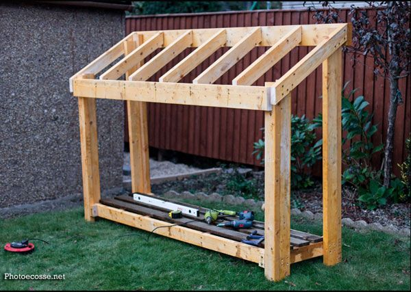 Diy Small Wood Shed Howtospecialist How To Build Step By Step