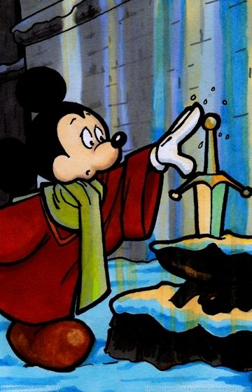 Sword in the Stone Mickey | Mickey in Mufti | Pinterest ...