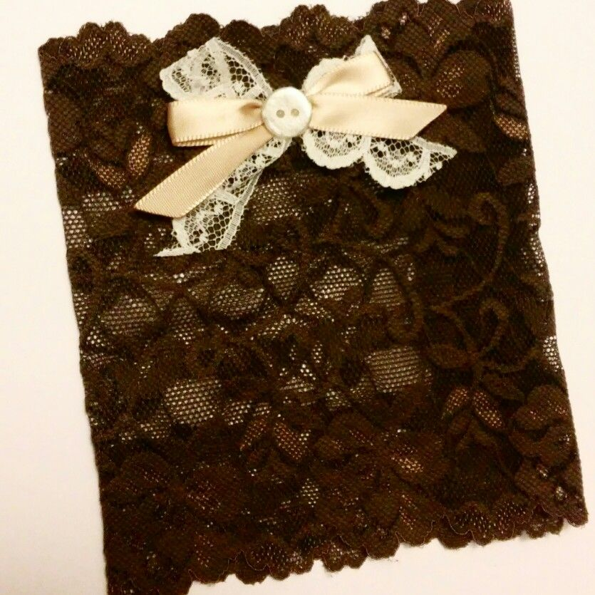 VINTAGE LINE: Chocolate lace boot cuffs with coyntry bow!!  Www.etsy.com/shop/MostBeautifulDesigns