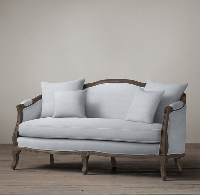Rh 39 S Ondine Salon Bench Our Settee Amp 39 S Elegant Arching Back Down Scrolled Arms And Cabriole Legs Echo The Sofa Styling French Style Sofa Furniture Elegant benches for living room