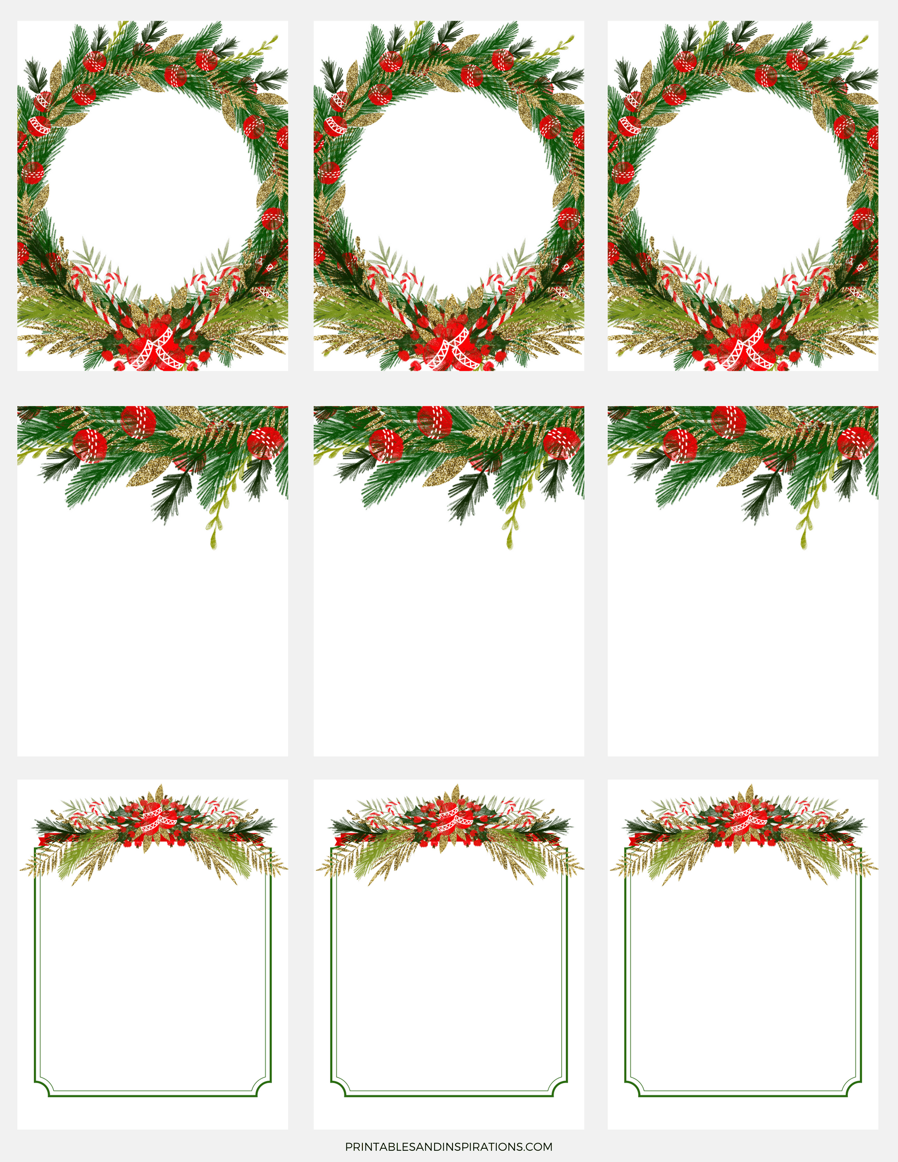Free Digital Paper For Christmas Decorations, Christmas Gift Tags Stickers