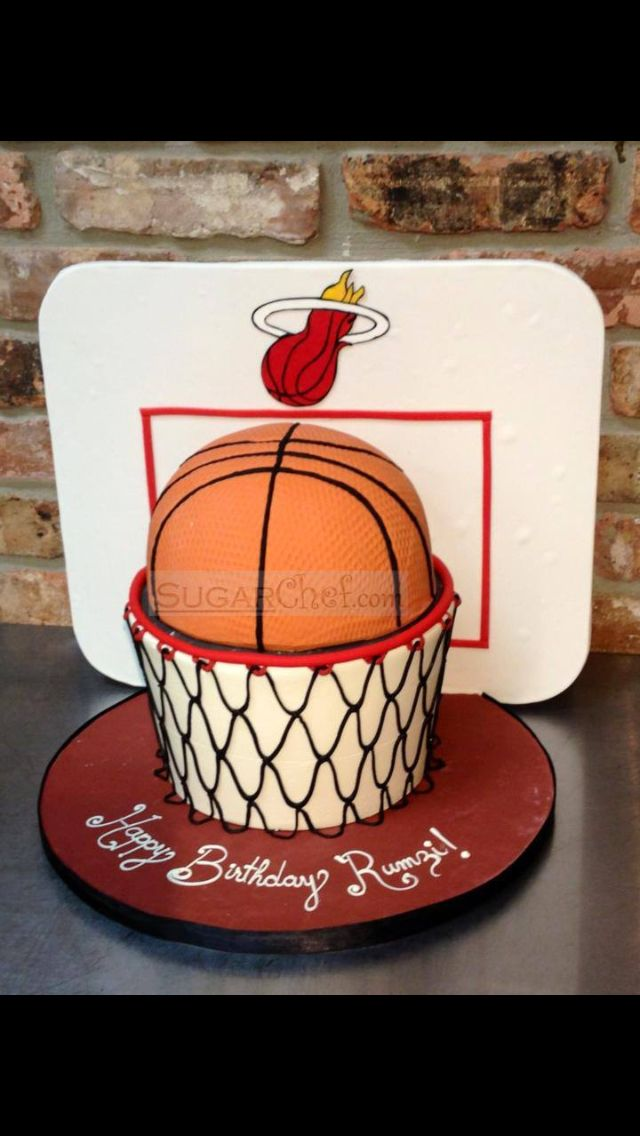 Basketball hoop birthday cake Sugar Chef Cake Studio Pinterest