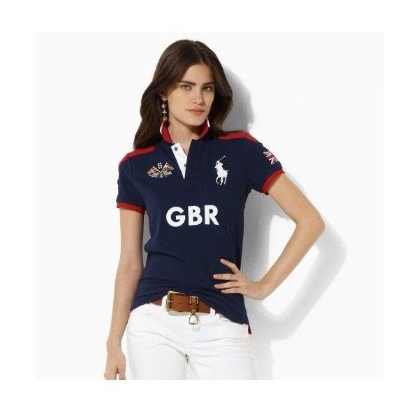 fitted ralph lauren polo shirts for women | Ralph Lauren Women\u0027s Custom-fit  Ocean Challenge Polo - GBR - Polo T ..