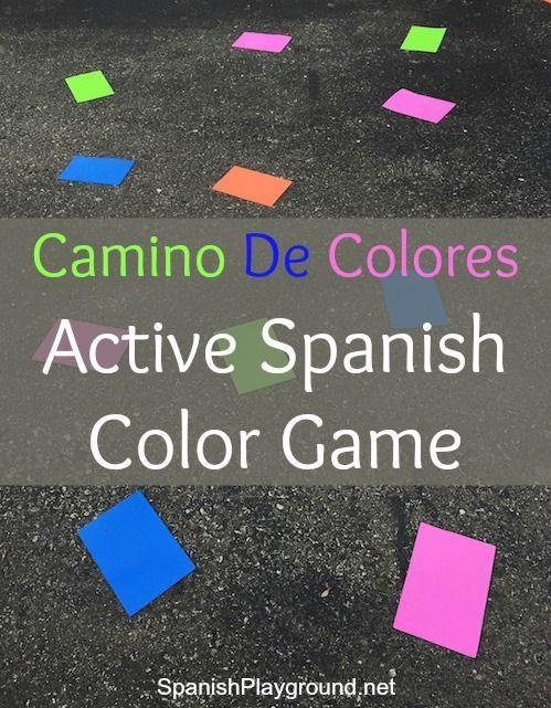 spanish color game camino de colores