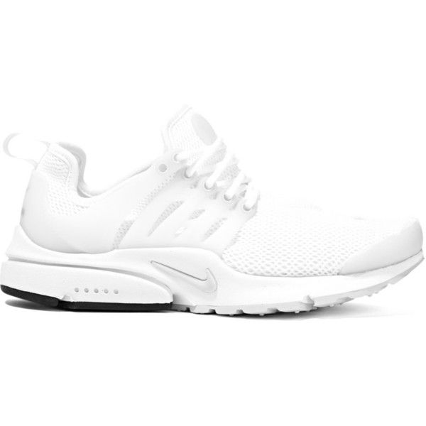 Nike Air Presto mesh and rubber sneakers ($60) ❤ liked on Polyvore  featuring shoes
