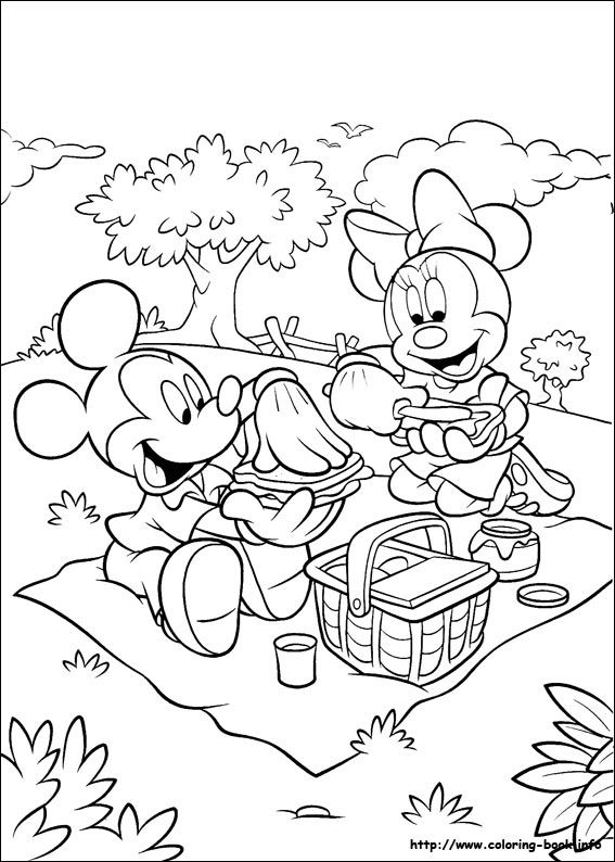Mickey Minnie Picnic Mickey Mouse Coloring Pages Minnie Mouse Coloring Pages Mickey Coloring Pages