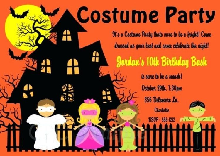halloween birthday party invitations free printable invitation
