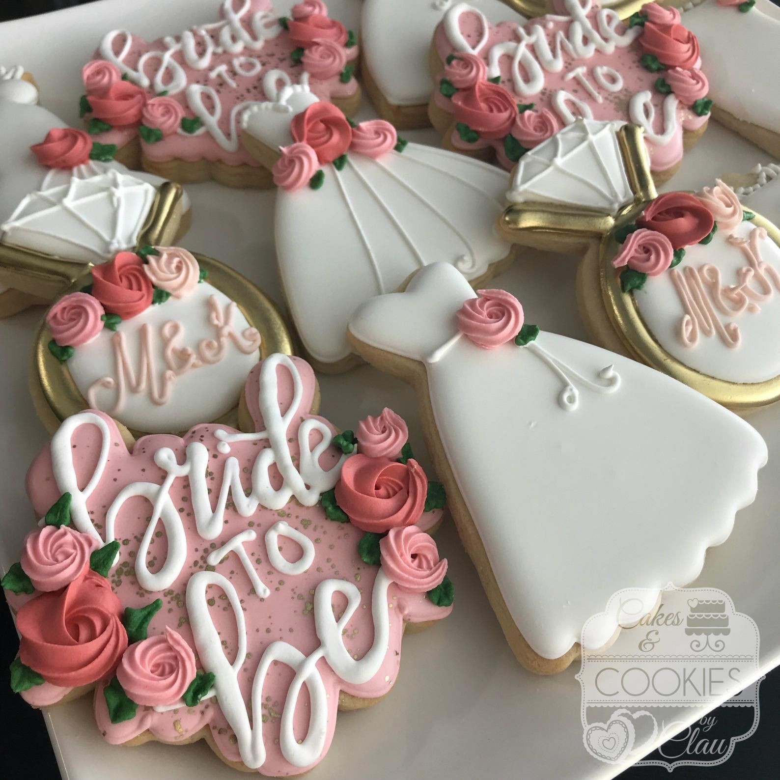 Bride to be bridal shower engagement decorated custom