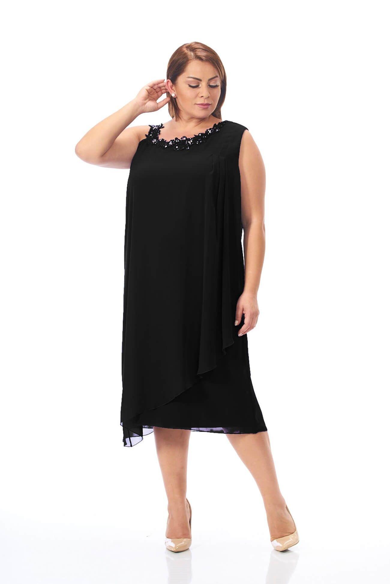 a0ecba79c07c0 Şifon Elbise Siyah
