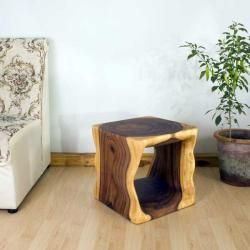 @Overstock - Monkey Pod Wood 16-inch Cube End Table (Thailand) - This dramatic accent end table is a stylish complement to both traditional and contemporary settings. This cube style hand-rubbed table features a natural oil finish.    http://www.overstock.com/Worldstock-Fair-Trade/Monkey-Pod-Wood-16-inch-Cube-End-Table-Thailand/5784170/product.html?CID=214117  $189.99