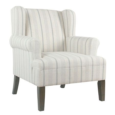 Best Dove Gray Stripe Accent Chair Blue Accent Chairs Accent 400 x 300