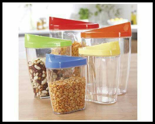 Make your dried goods last longer and atay fresh klife pinterest store and pour set make storing and pouring dry ingredients such as cereal and rice easy with this fantastic set of 5 boxes each box is clear so you can ccuart Gallery