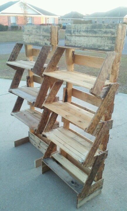 Shelves Out Of Pallets Things I 39 Ve Done Pinterest