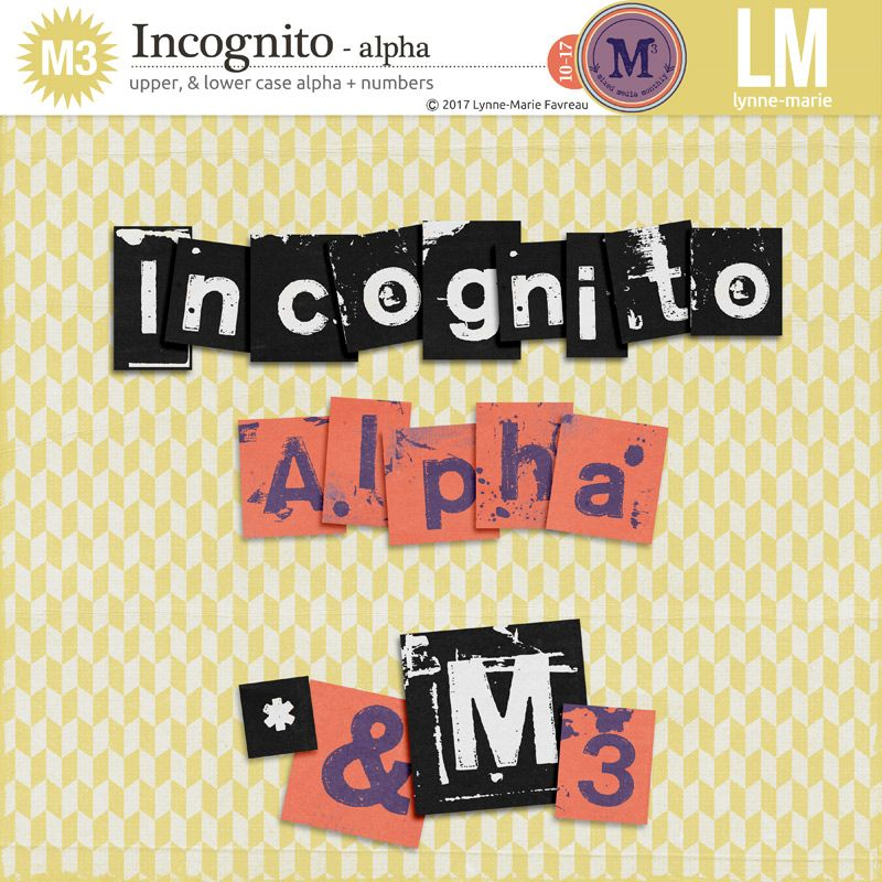 Incognito Alpha M3 Scrapbook Items Lily Pads Alpha