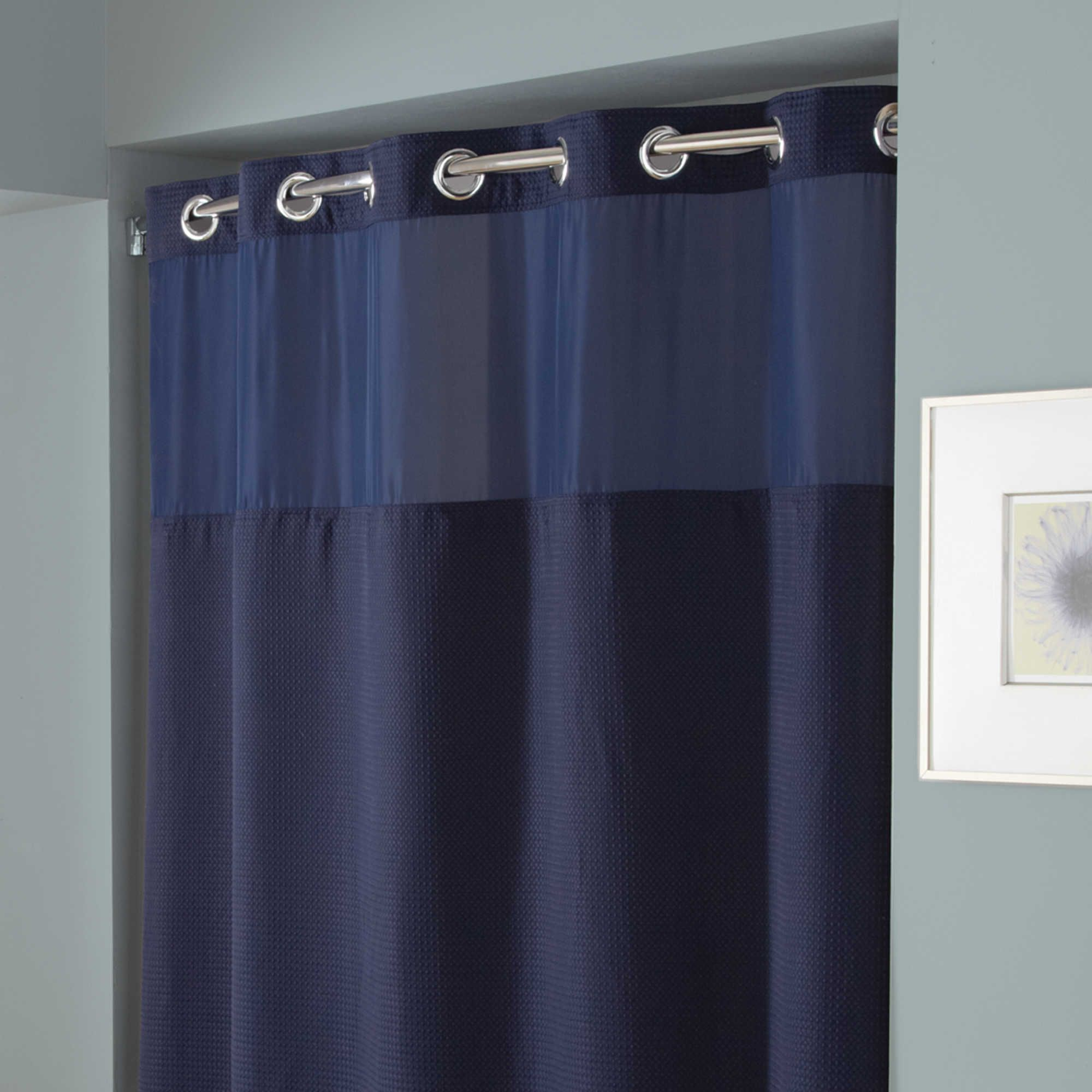 Hookless® Waffle Fabric Shower Curtain and Liner Set | Bathroom ...