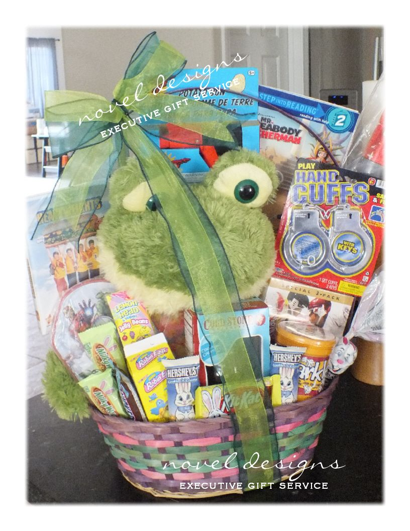 Boys easter basket mixed candy with toys books movie plug frog boys easter basket mixed candy with toys books movie plug frog negle Images