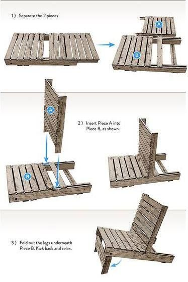 How green can you go? How to make a lawn chair out of wooden pallets