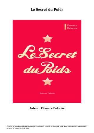 Le Secret Du Mari Pdf : secret, Livre, Gratuit, Secret, Poids, (pdf,, Epub,, Mobi), Florence, Delorme, Poids,, Secret,