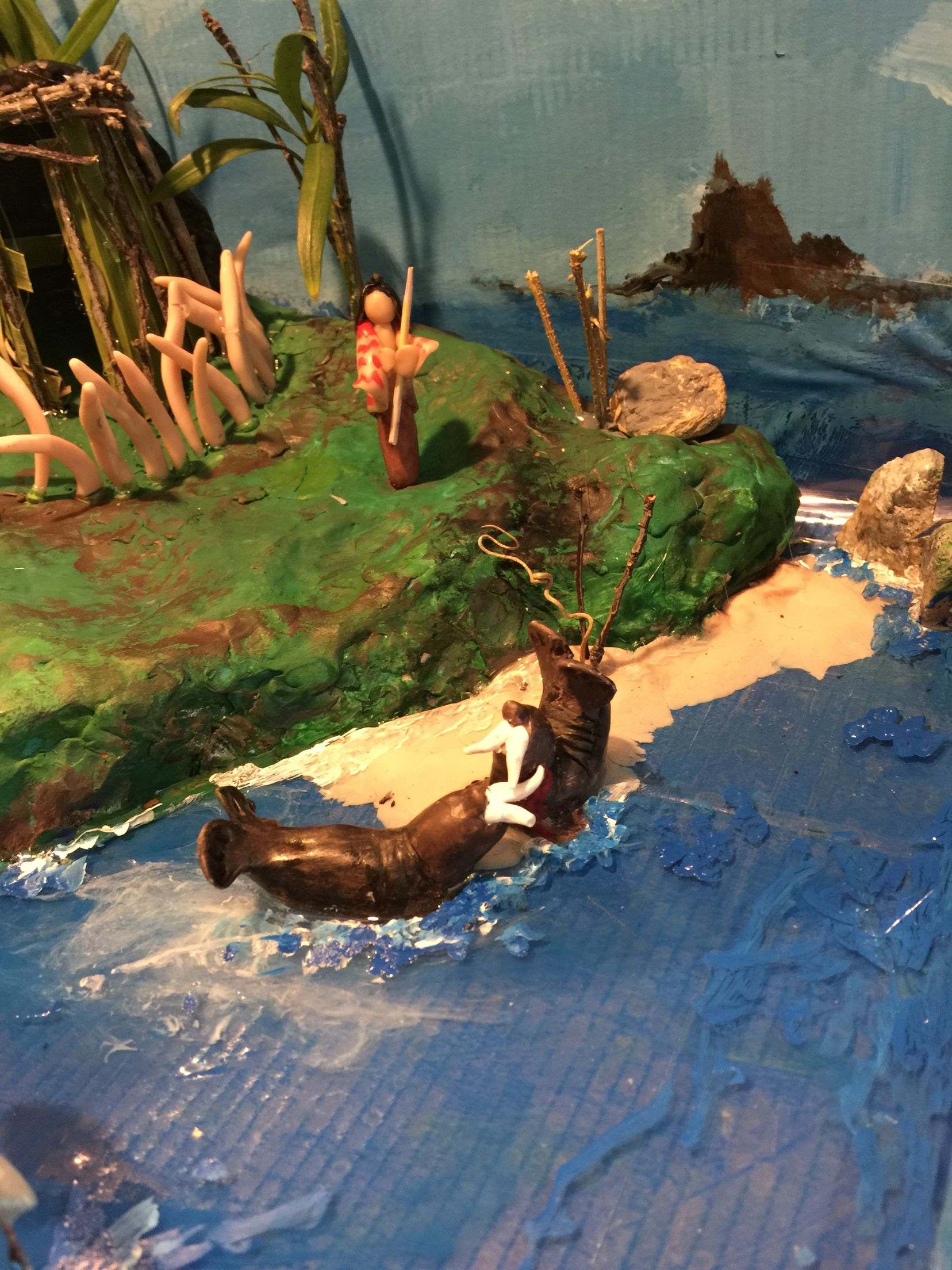 Finished Project Of Alyssa S Island Of The Blue Dolphins 4th Grade