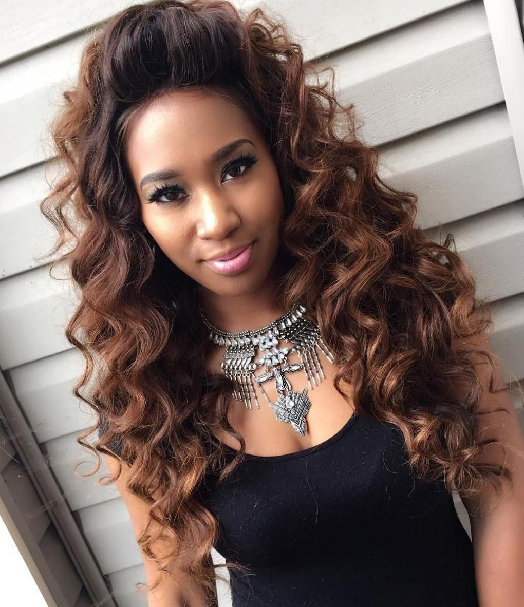 Sew In Hairstyle Sew Hot 40 Gorgeous Sewin Hairstyles  Long Curly Curly And