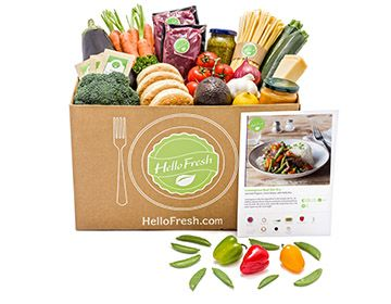 Family Box Weekly Food Delivery Hellofresh Cook Book Food