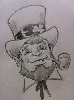 Drawing a leprechaun leprechaun art and drawings drawing a leprechaun ccuart Choice Image