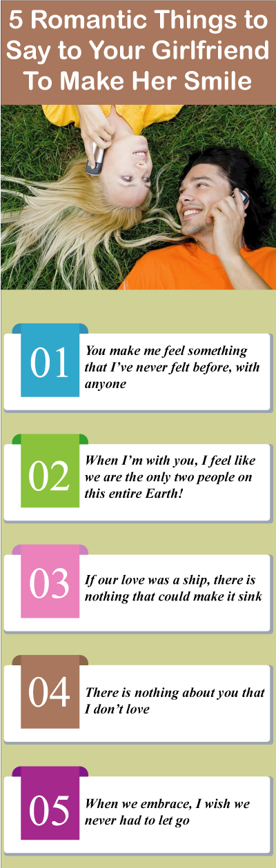things to say to a girlfriend to make her happy
