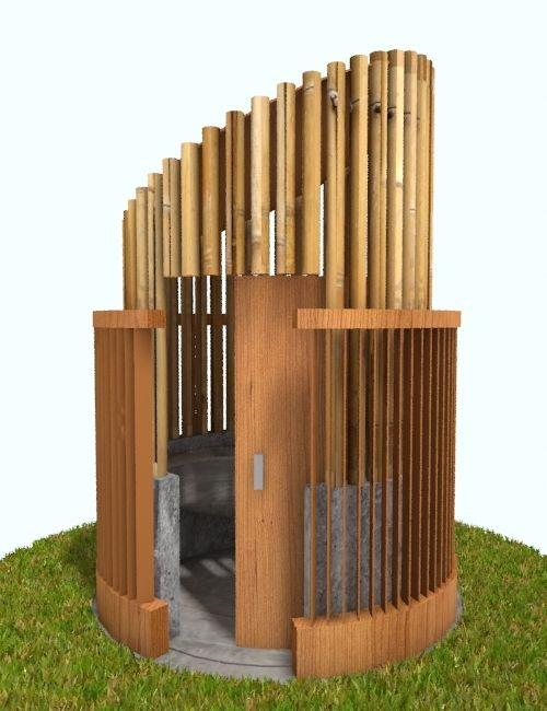 Sustainable Public Toilet Outdoor On Behance Outdoor Toilet