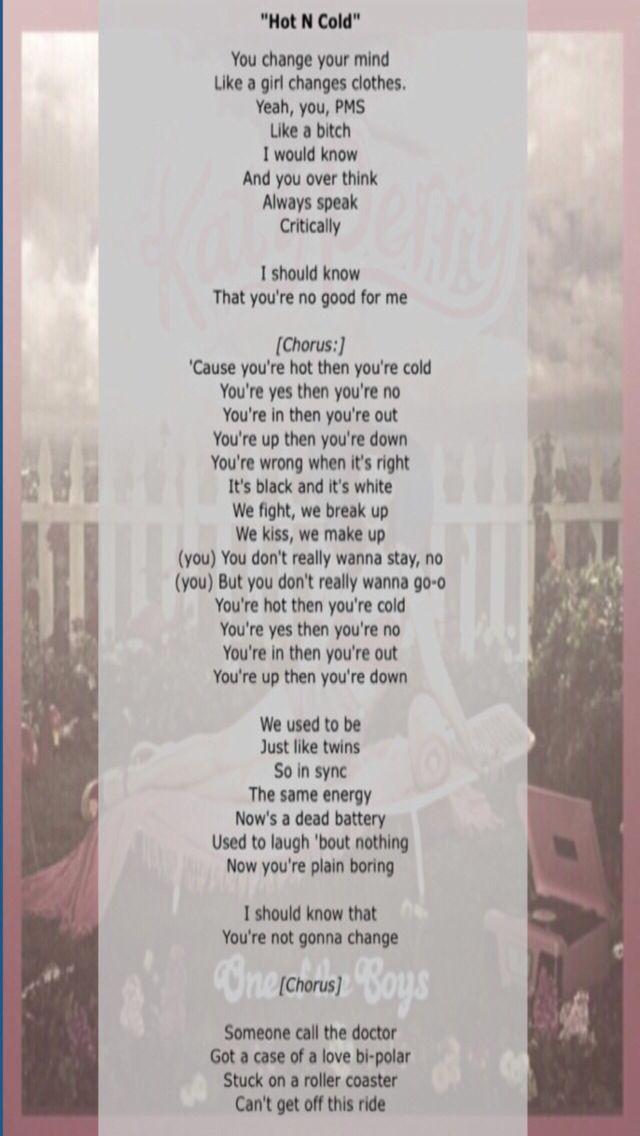 Lyric eye of the tiger katy perry lyrics : Lyrics | Hot N Cold | One of the Boys (2008) | Katy Perry | Katy ...