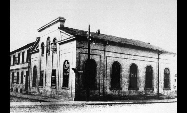 A synagogue at Kolo near Chelmno, where Jews were held before being murdered by the Nazis.