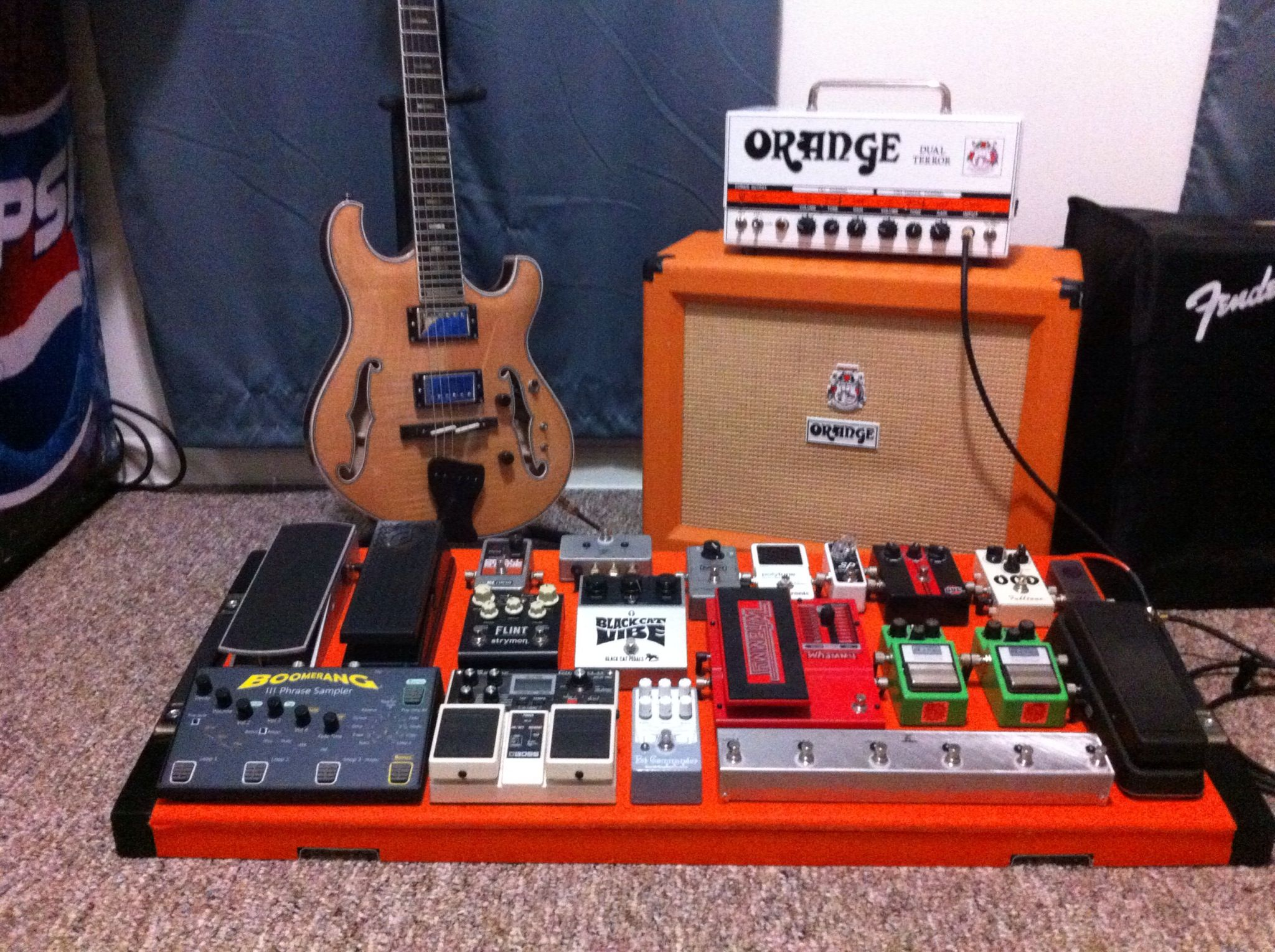 My Main Guitar And Amp With The Pedalboard Equator Standard Guitar
