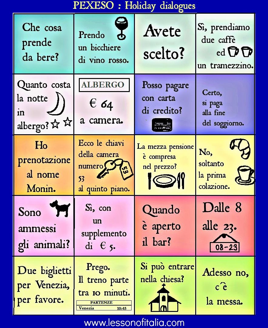 Words Language Grammar: Italian Language !
